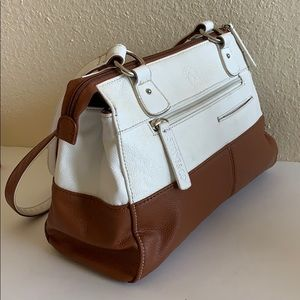 Stone&co two tone brown off white handbag